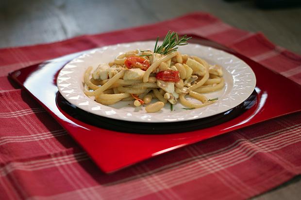 ricetta pici con orata e pomodorini meno 30 surgelati
