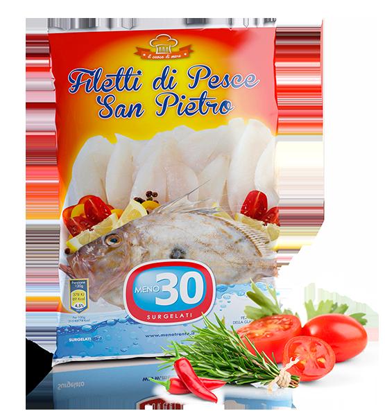 filetti di pesce san pietro meno 30 surgelati