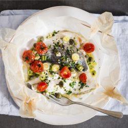 ricetta filetti di orata al cartoccio meno 30 surgelati pomodorini capperi e cipolotto